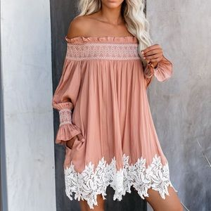 BNWT - Off The Shoulder Lace Tunic - Small